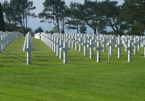 American Cemetery crosses Normandy