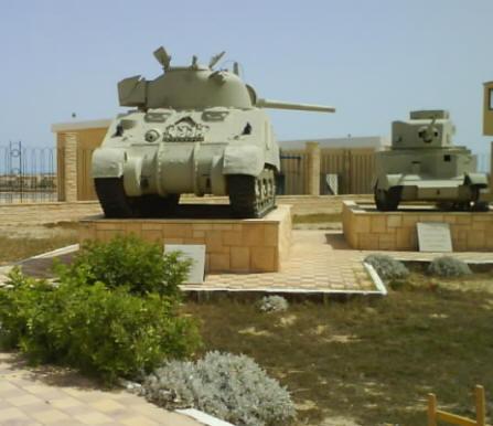 Tank display, El Alamein