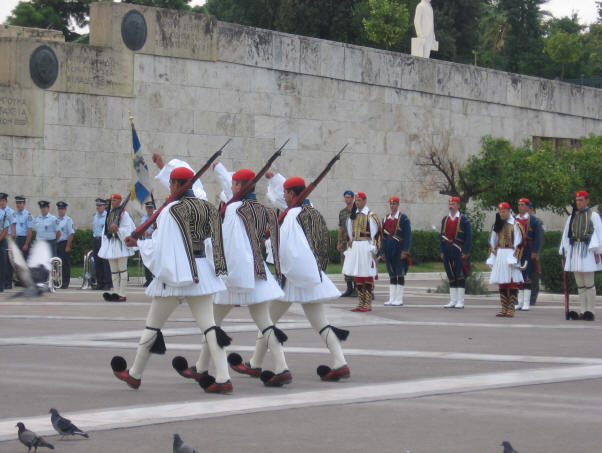 Changing the guard, Athens