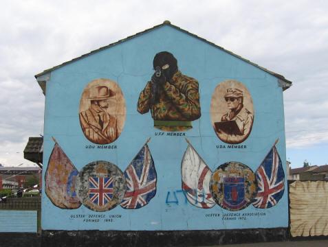 Ulster Defence Mural Belfast