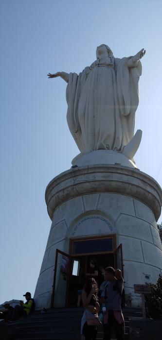 Mary Statue Santiago