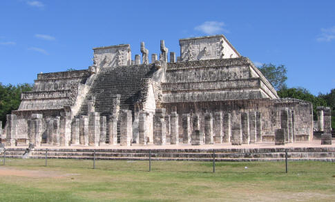 Temple of the Warriors Chichen Itza