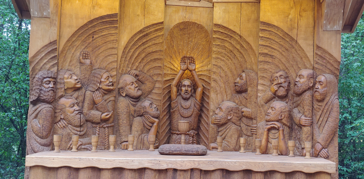 Wood Carving Last Supper