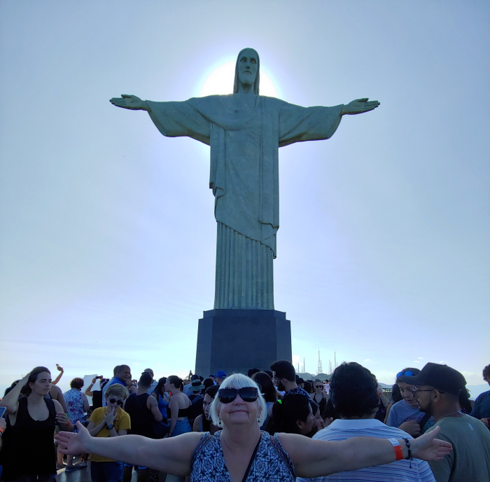 Photo with Cristo Redentor