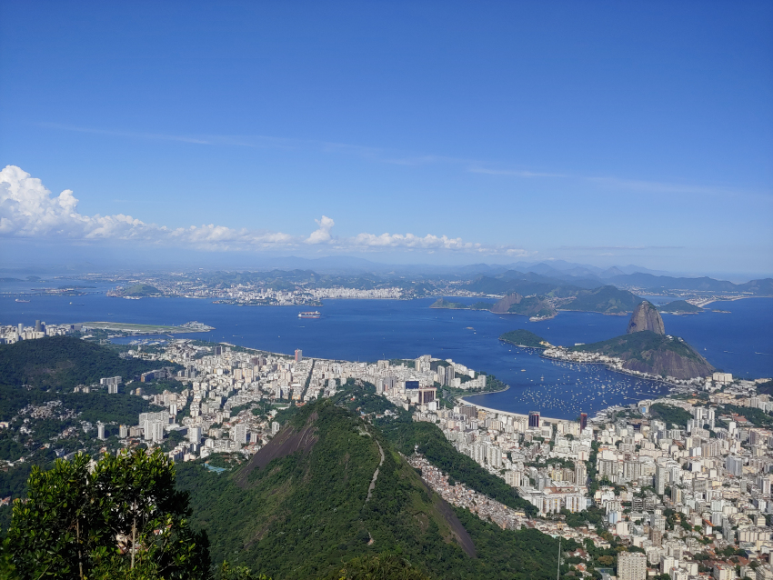 View from Cristo Redentor
